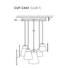 Cup cake club 5 susanne uerlings suspension pendant light  dark 1071 02 804002 01  design signed nedgis 68150 thumb