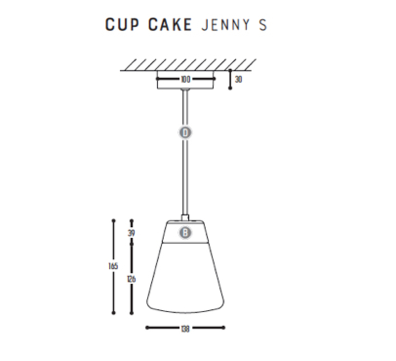 Cup cake jenny s susanne uerlings suspension pendant light  dark 1066 02 804002 01  design signed nedgis 68167 product