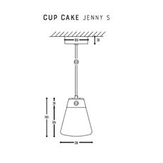 Cup cake jenny s susanne uerlings suspension pendant light  dark 1066 02 804002 01  design signed nedgis 68167 thumb