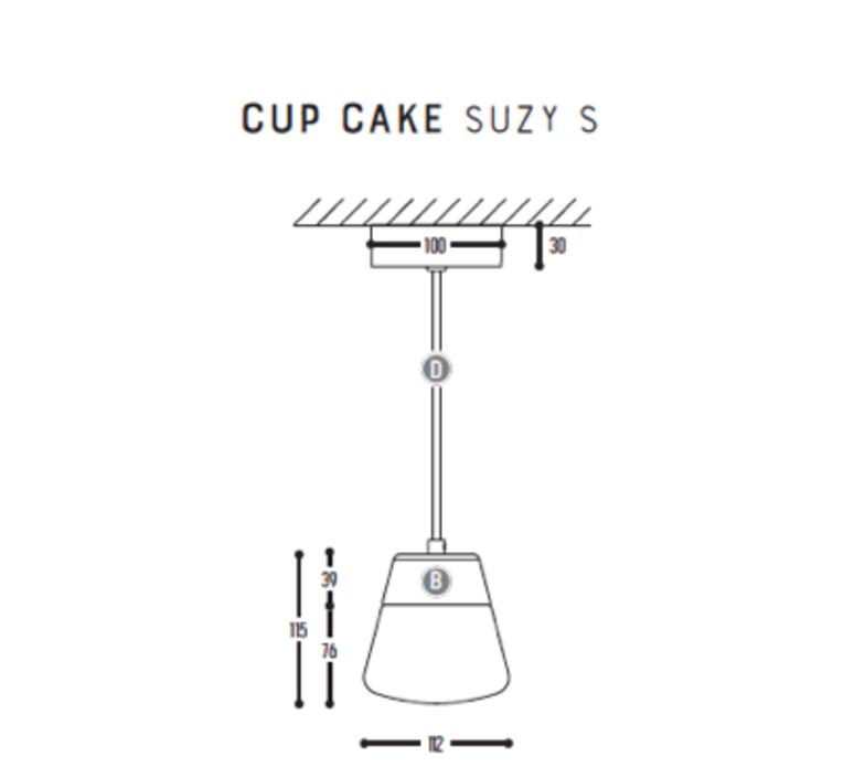 Cup cake suzy s susanne uerlings suspension pendant light  dark 1065 02 804002 01  design signed nedgis 68162 product