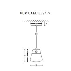 Cup cake suzy s susanne uerlings suspension pendant light  dark 1065 02 804002 01  design signed nedgis 68162 thumb