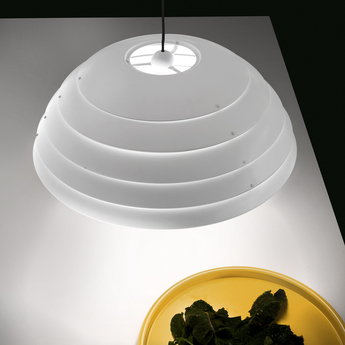 Suspension cupolone blanc o60cm martinelli luce normal