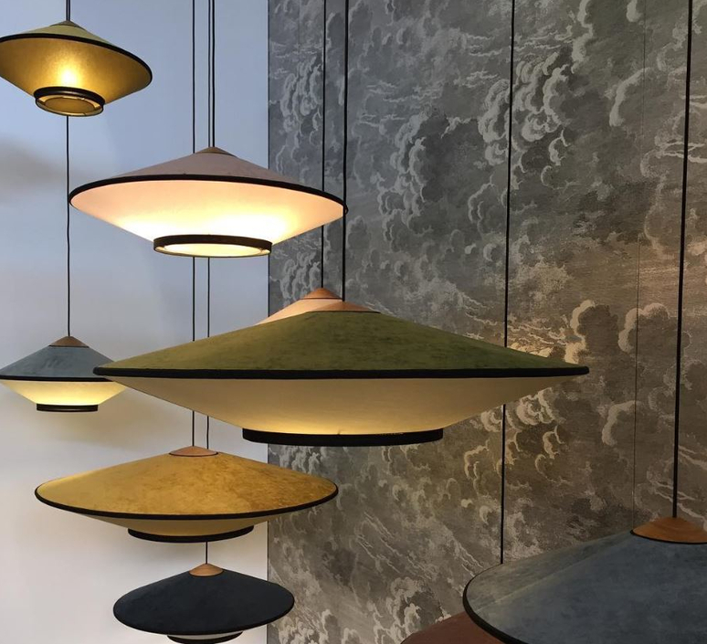 Cymbal jette scheib suspension pendant light  forestier 21203  design signed 59012 product