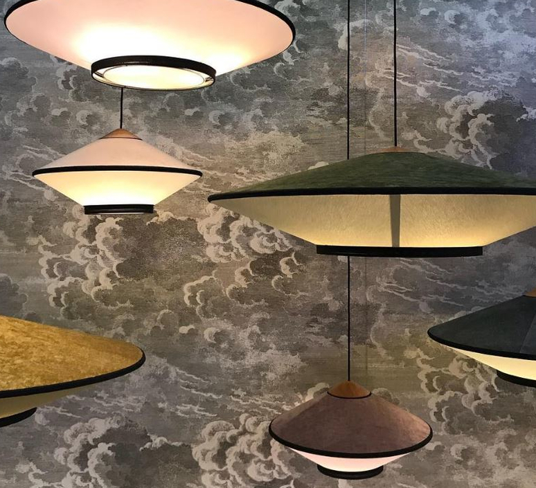 Cymbal jette scheib suspension pendant light  forestier 21203  design signed 59013 product
