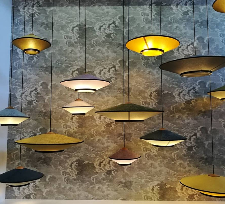 Cymbal jette scheib suspension pendant light  forestier 21218  design signed 59098 product