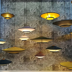 Cymbal jette scheib suspension pendant light  forestier 21218  design signed 59098 thumb