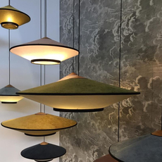 Cymbal jette scheib suspension pendant light  forestier 21218  design signed 59099 thumb