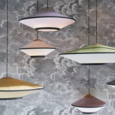 Cymbal jette scheib suspension pendant light  forestier 21216  design signed 59089 thumb
