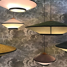Cymbal jette scheib suspension pendant light  forestier 21216  design signed 59092 thumb