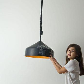 Suspension cyrcus noir et blanc o40cm h22 5cm in es artdesign normal