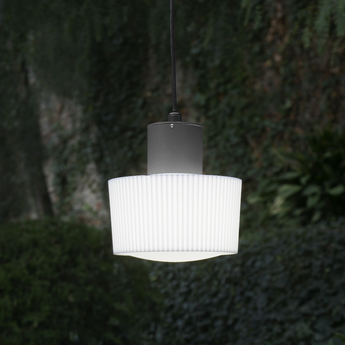 Suspension d 39 ext rieur muffin gris anthracite 22cm for Luminaire exterieur gris anthracite