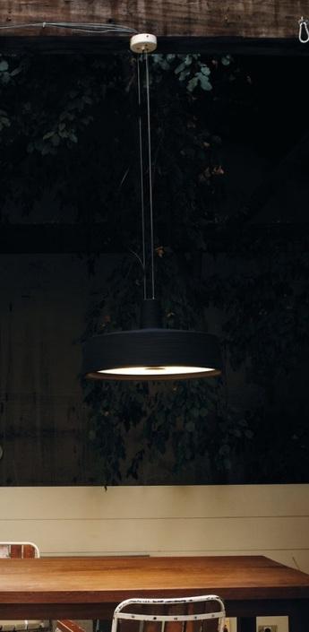 Suspension d exterieur soho noir o57cm marset normal