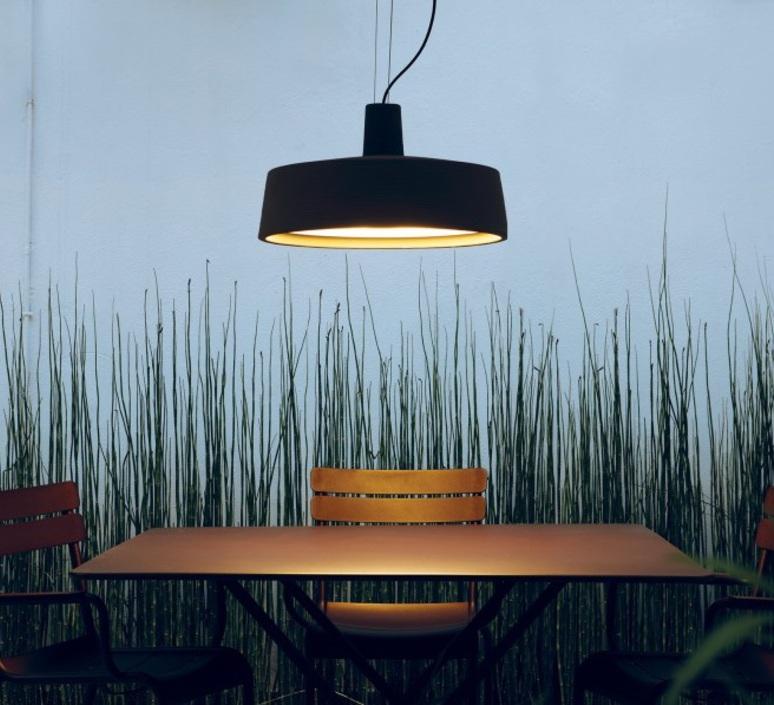Outdoor pendant light Soho black 57cm Marset Nedgis Lighting