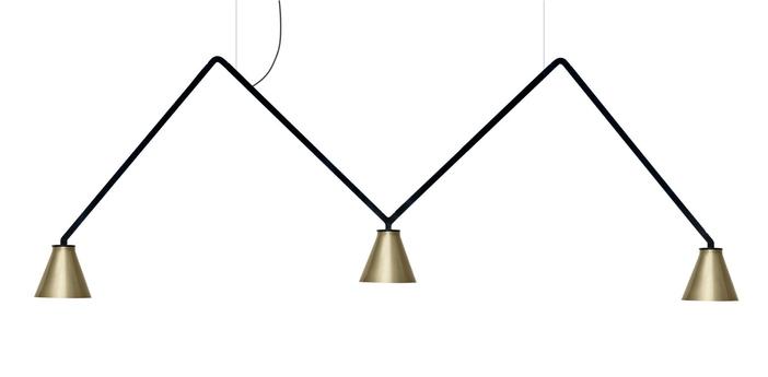 Suspension dabliu cone noir led 2700k 400lm l130cm h42cm nemo lighting normal