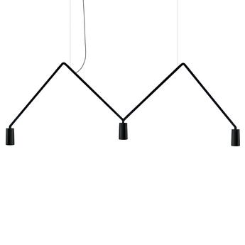 Suspension dabliu spot 40 noir led 2700k 400lm l130cm h42cm nemo lighting normal