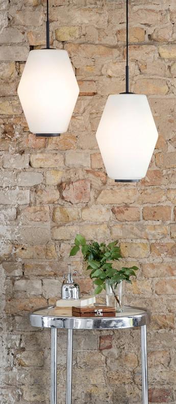 Suspension dahl blanc gris h33cm northern lighting normal