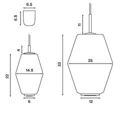 Dahl  suspension pendant light  northern lighting 493  design signed nedgis 63508 thumb