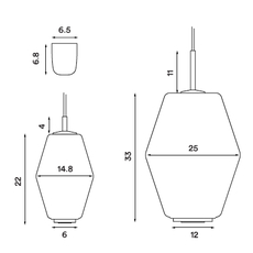 Dahl  suspension pendant light  northern lighting 492  design signed nedgis 63405 thumb