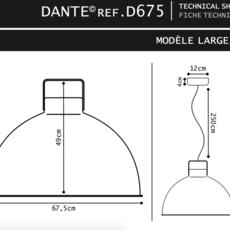 Dante 675 jean louis domecq suspension pendant light  jielde d675o ral9011  design signed 56077 thumb