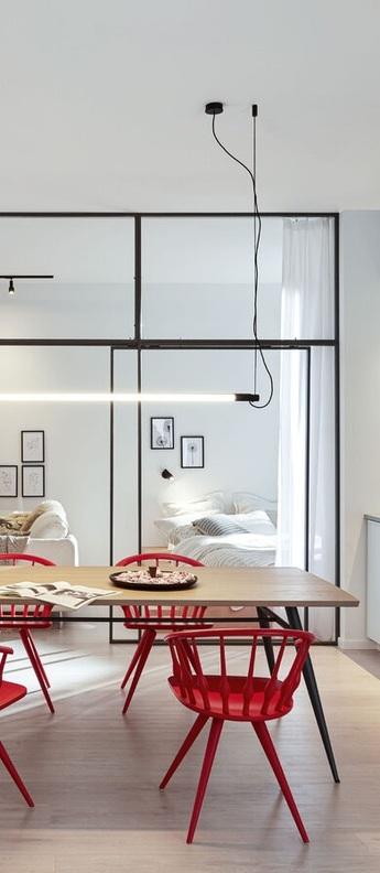 Suspension darf ceiling suspended 1 0 non dim noir et blanc led 3000k 3300lm o3 3cm h162 6cm wever ducre normal