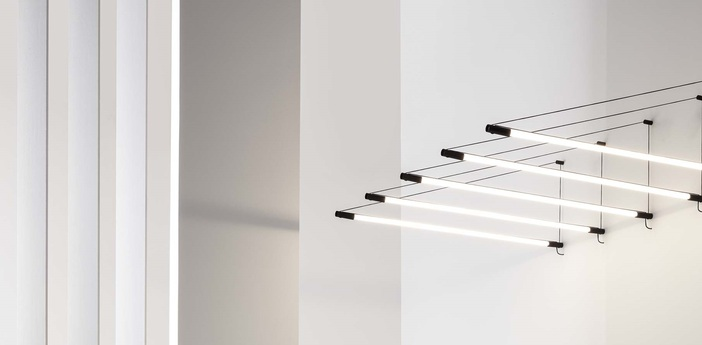 Suspension darf wall surface 1 0 non dim noir et blanc led 3000k 3300lm l3 3cm h162 6cm wever ducre normal