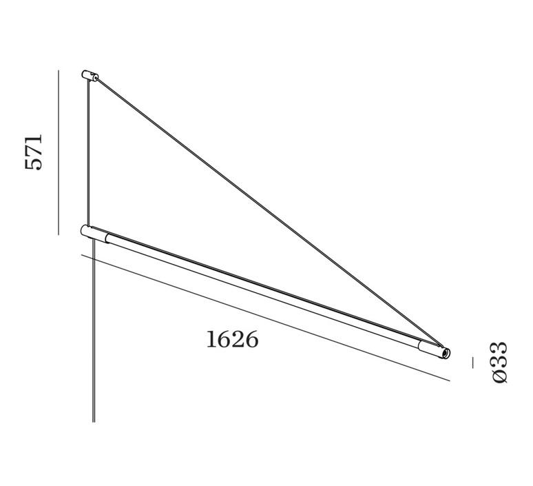 Darf wall surface 1 0 non dim studio wever ducre suspension pendant light  wever et ducre 2563t7b4  design signed nedgis 93234 product