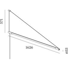 Darf wall surface 1 0 non dim studio wever ducre suspension pendant light  wever et ducre 2563t7b4  design signed nedgis 93234 thumb