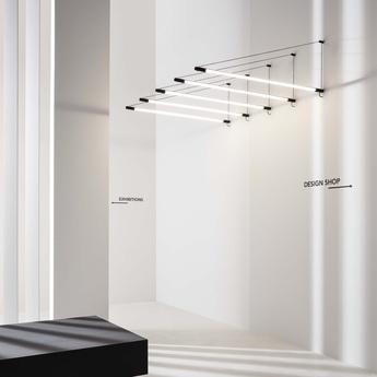 Suspension darf wall surface 1 0 non dim noir et blanc led 3000k 3300lm l3 3cm h162 6cm wever ducre normal