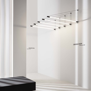 Suspension darf wall surface 1 0 phase cut dim noir et blanc led 3000k 1700lm l3 3cm h162 6cm wever ducre normal