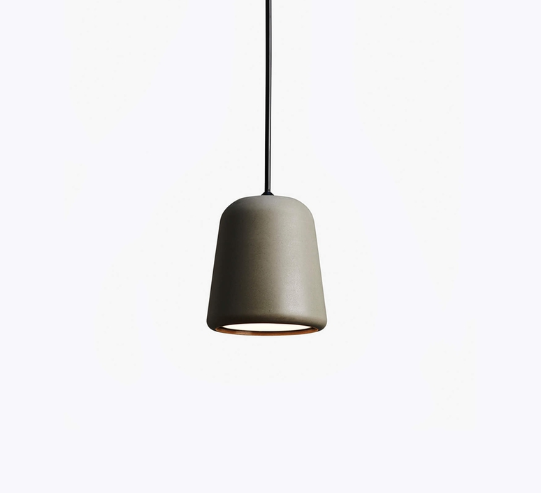 Dark grey concrete noergaard kechayas suspension pendant light  newworks 20117  design signed 30663 product