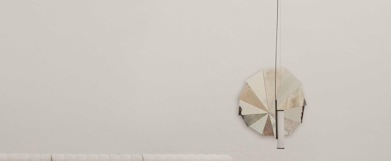 Suspension deco 1 verre opal blanc l6cm h48cm norr11 normal