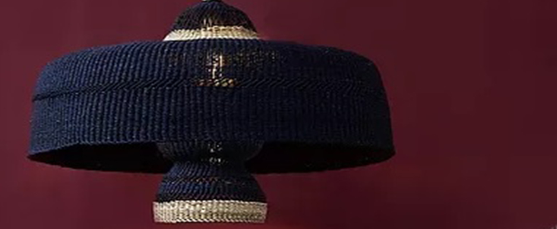 Suspension deeply 3 tier bleu nuit o55cm h31cm golden editions normal