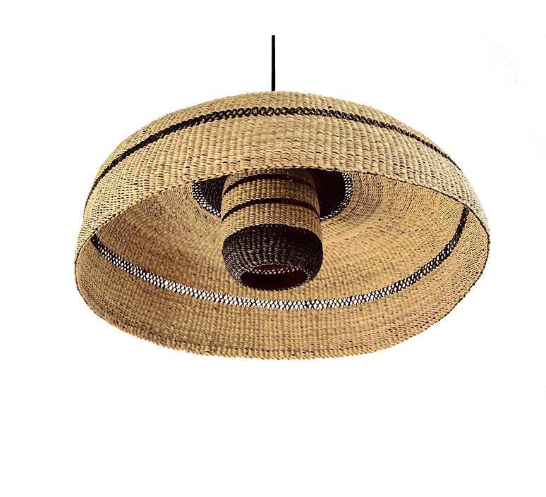Deeply lantern sara efia reddin suspension pendant light  golden editions deeply lantern natural midnight  design signed nedgis 103921 product