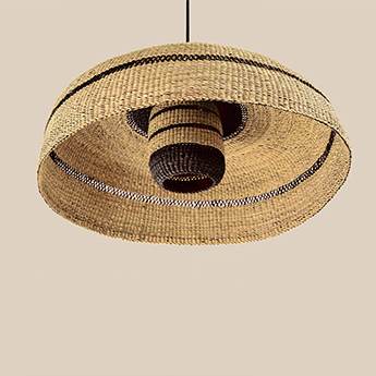 Suspension deeply lantern naturel minuit o55cm h28cm golden editions normal