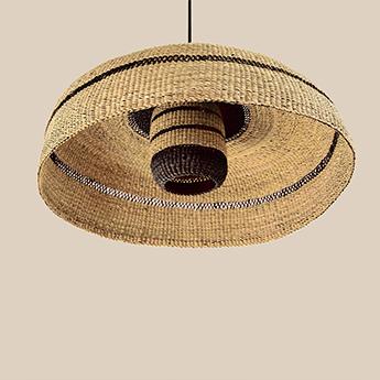 Suspension deeply lantern naturel minuit o55cm h28cm golden editions normal