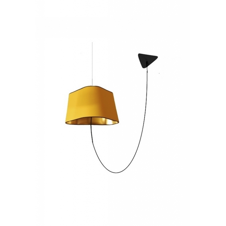 suspension d port e grand nuage jaune or fil noir h200cm designheure luminaires nedgis. Black Bedroom Furniture Sets. Home Design Ideas