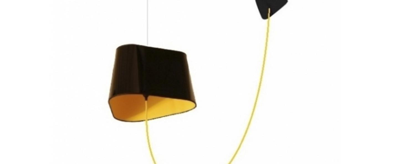 suspension d port e grand nuage noir jaune fil jaune h200cm designheure luminaires nedgis. Black Bedroom Furniture Sets. Home Design Ideas
