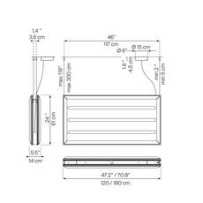 Diade d93 monica armani suspension pendant light  luceplan 1d930sddl020 1d93030000a4 1d9308000020  design signed 56421 thumb