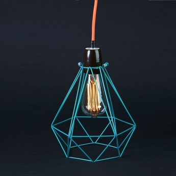 Suspension diamond 1 bleu orange h28cm filamentstyle normal