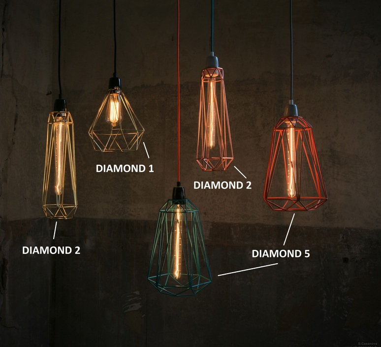 Diamond 2 laurent mare filamentstyle filament015 luminaire lighting design signed 18800 product