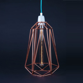 Suspension diamond 5 bronze bleu h39cm filamentstyle normal