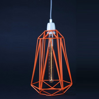 Suspension diamond 5 orange gris h39cm filamentstyle normal