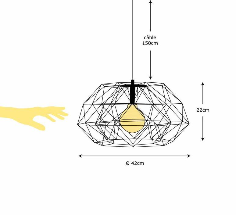 Diamond 7  suspension pendant light  filamentstyle filament025  design signed 51837 product