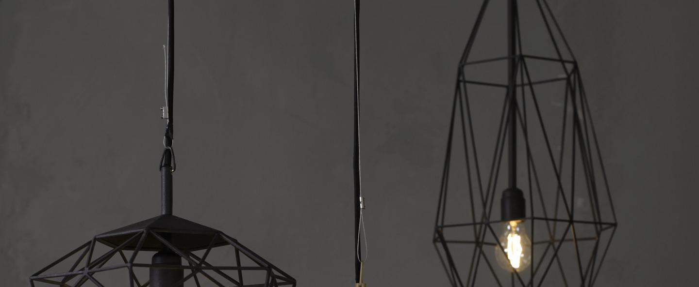 Suspension diamond large noir h80cm jspr normal