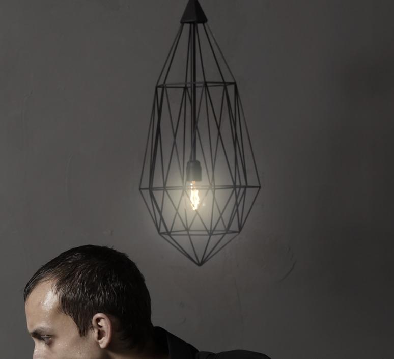 Diamond large sylvie meuffels jspr diamond large black luminaire lighting design signed 12032 product