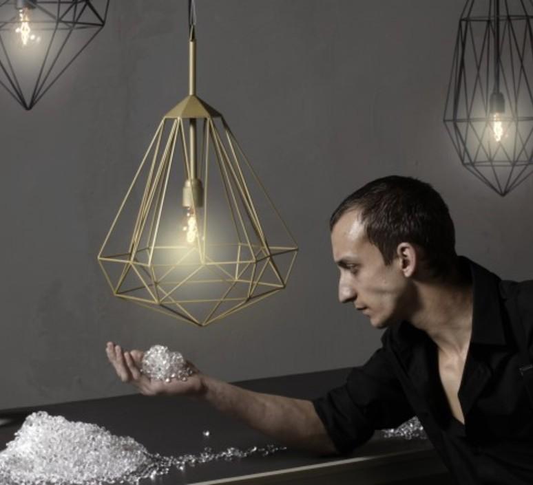Diamond large sylvie meuffels jspr diamond large black luminaire lighting design signed 12036 product