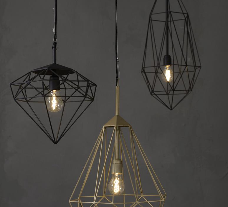 Diamond medium sylvie meuffels jspr diamond medium black luminaire lighting design signed 12025 product
