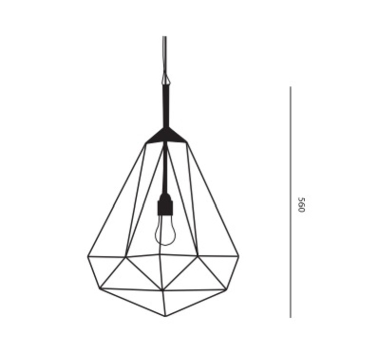Diamond medium sylvie meuffels jspr diamond medium black luminaire lighting design signed 12026 product