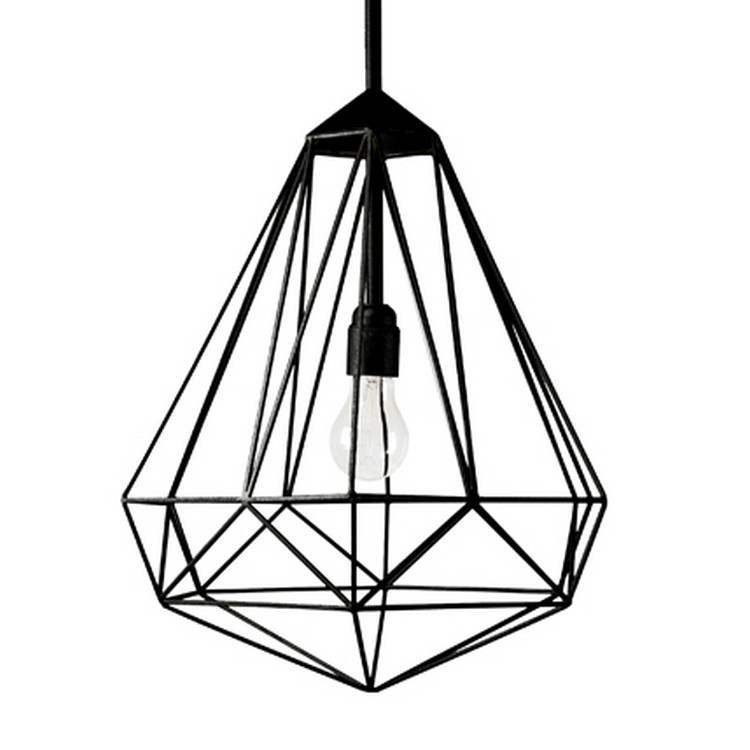 suspension diamond medium noir h56cm jspr luminaires nedgis. Black Bedroom Furniture Sets. Home Design Ideas