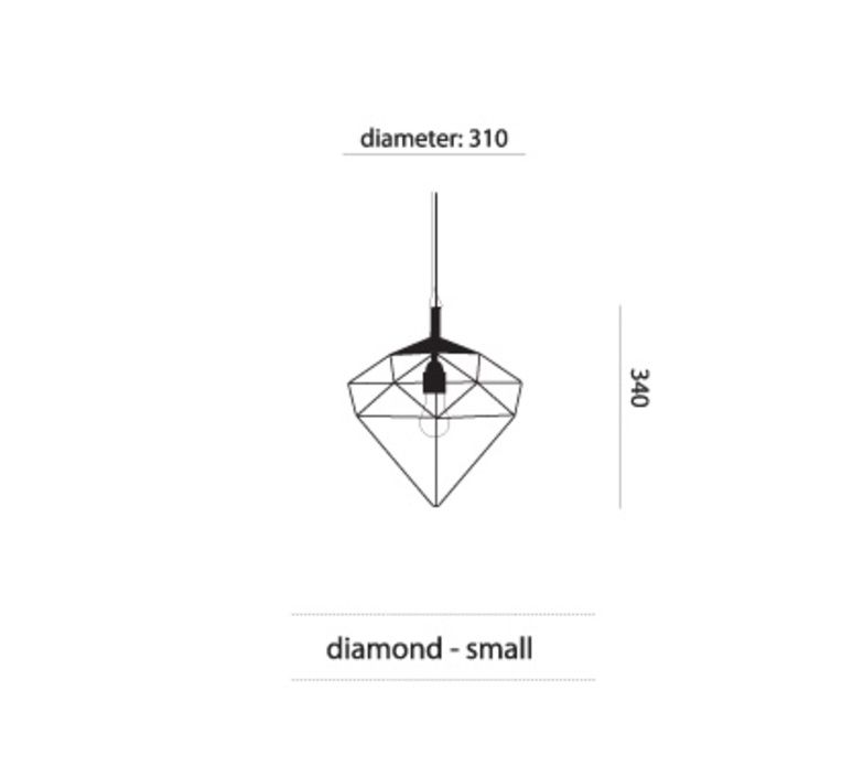 Diamond small sylvie meuffels jspr diamond small black luminaire lighting design signed 26842 product